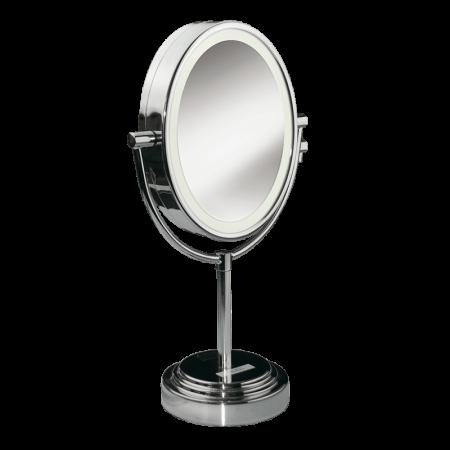 beleuchteter ovaler schminkspiegel mit 7 facher vergr erung 8437e. Black Bedroom Furniture Sets. Home Design Ideas